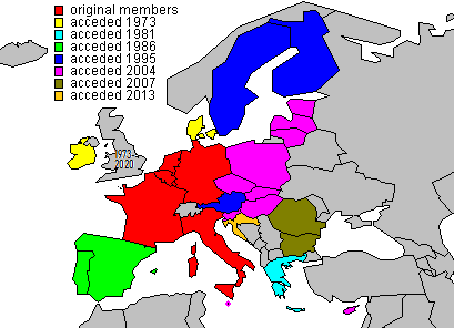 EU membership map