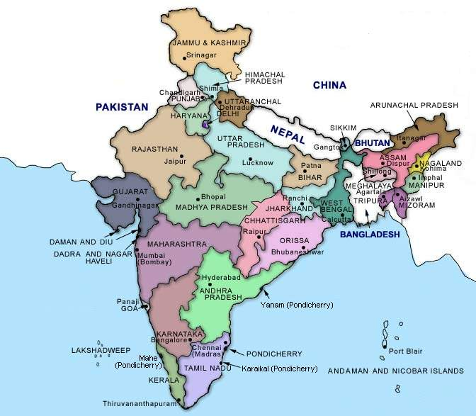 Map of indian states state map gumiabroncs Images
